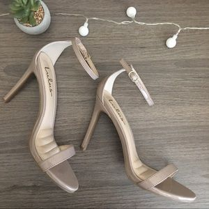Nude One Strap Heels